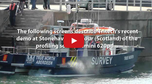 Short video showing the capabilities of Tritech's profiling sonar, Gemini 620pd as demonstrated at Stonehaven, Scotland.